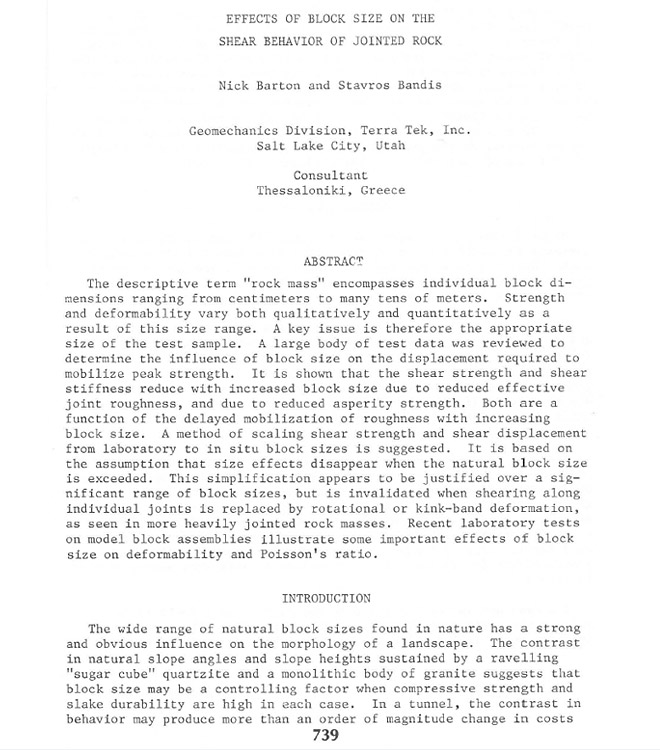 Nick Barton Hard And Soft Rock Engineering Berkeley · Click To See 1st  Page. Example Of A Word Essay ...
